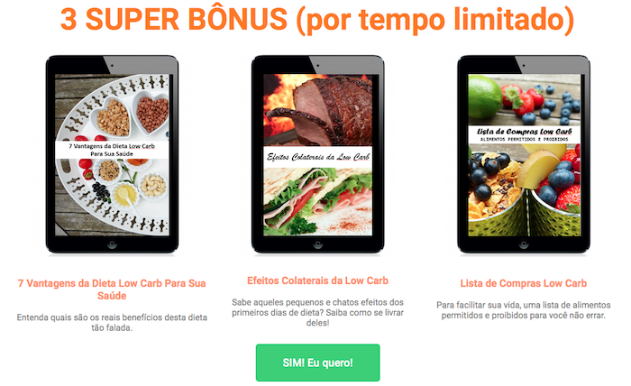 200 receitas low carb bonus