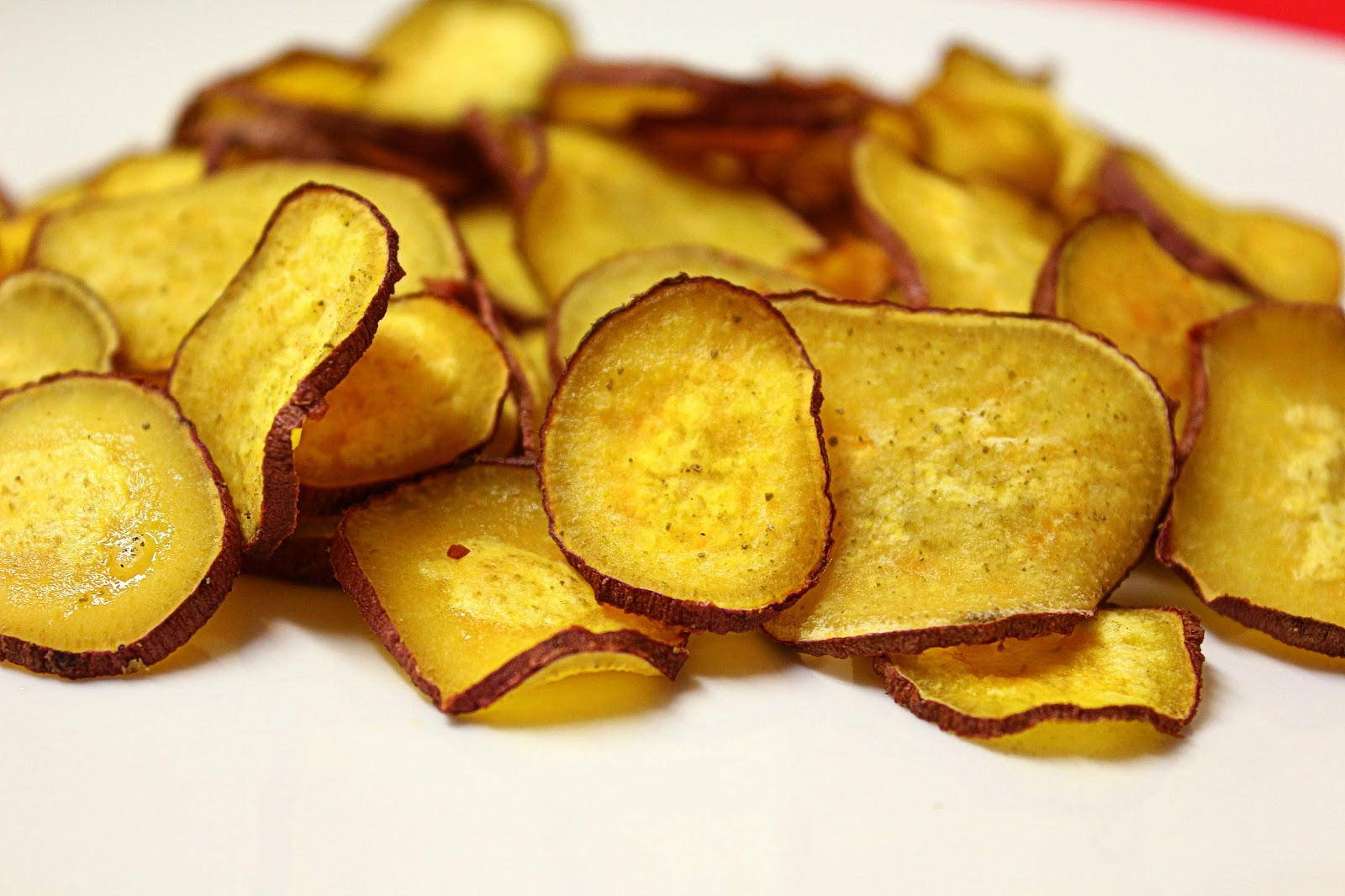 Chips de batata doce fit